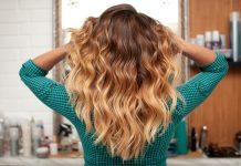 Un ombré blond sur une brune