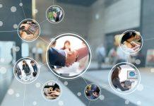 hologramme avec images au travail